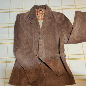 Women's leather suede jacket